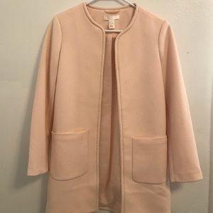 Light Pink H&M Blazer Jacket. Straight, Structured